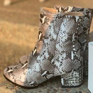 Snakeskin Studded Boots